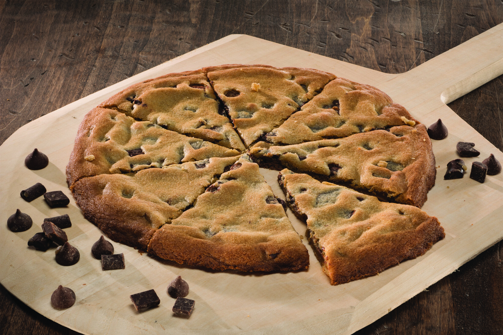 Triple Chocolate Pizza Cookie