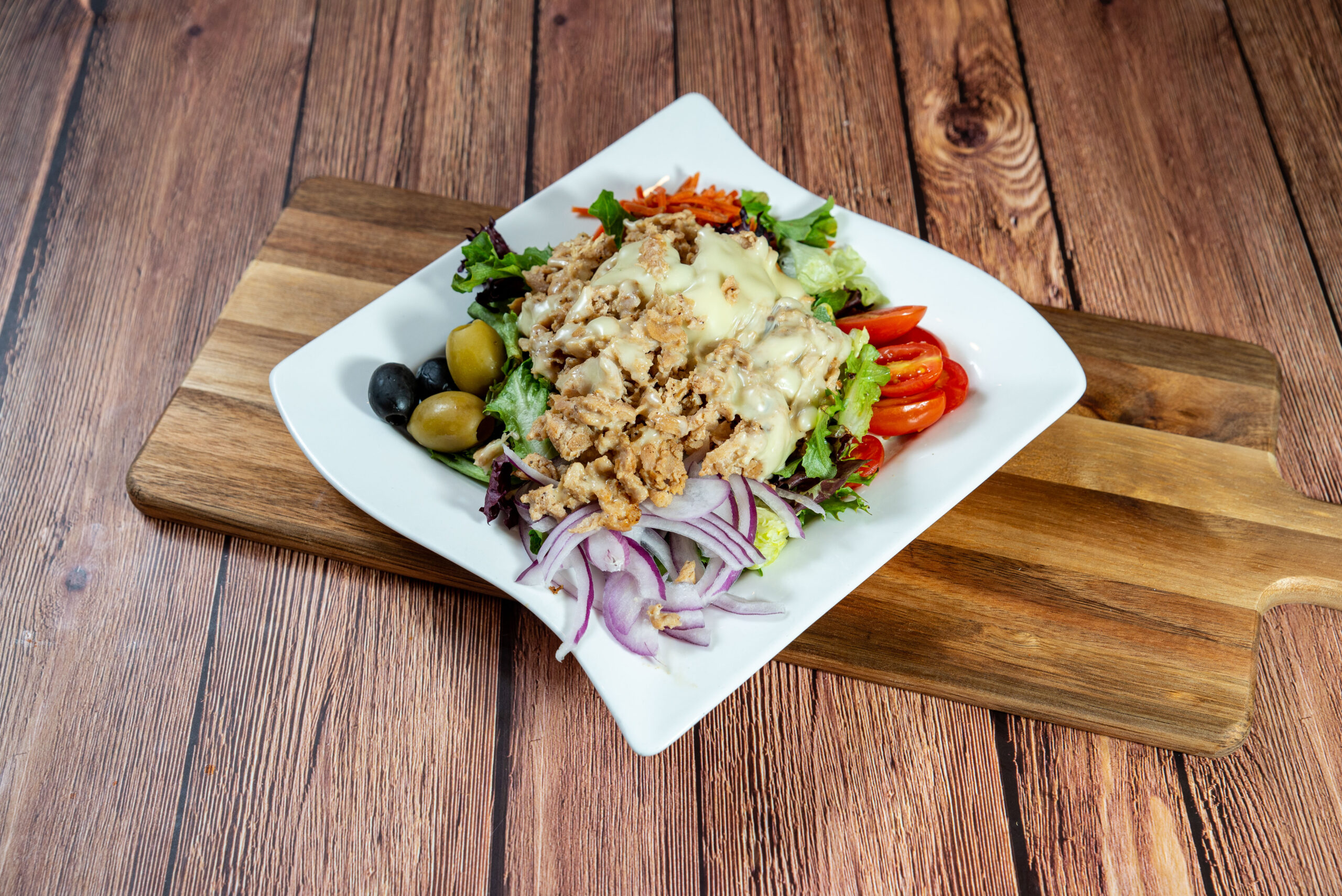 Chicken Cheese Steak Salad